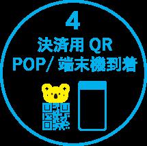 4.決済用QR POP / 端末機到着