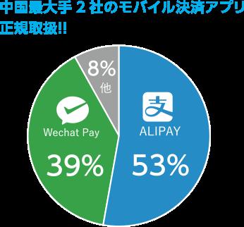中国最大手2社のモバイル決済アプリ正規取扱!